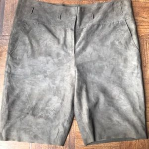 Tory Burch Goat Suede Bermuda shorts